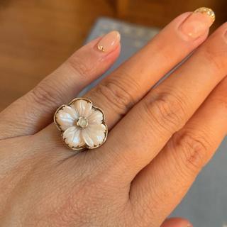 ピンクのお花のシルバーリング(リング(指輪))