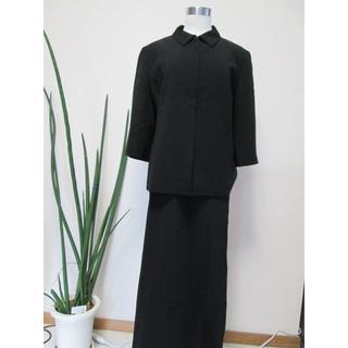 ニジュウサンク(23区)の23区 ロングスカートスーツ 大きい48・黒(スーツ)