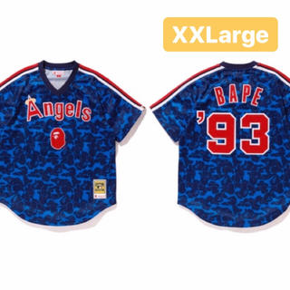 アベイシングエイプ(A BATHING APE)のLOS ANGELES ANGELS JERSEY bape 2XL(シャツ)