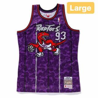 A BATHING APE - BAPE RAPTORS Camo basketball Tanktop L