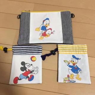 Disney - 未使用☆ハンドメイド  レトロ ディズニー  ポーチ&巾着