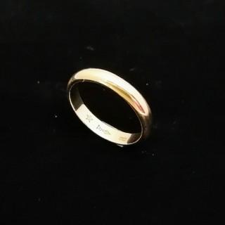 新品仕上げ済✨ 甲丸リングはシンプルでつけやすいです♥️の2 K18YG(リング(指輪))
