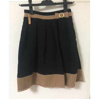 秋冬 バイカラー スカート(ひざ丈スカート)