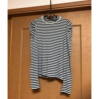 ココディール(COCO DEAL)の長袖 ボーダー トップス(Tシャツ(長袖/七分))