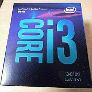 Intel Core i3 8100 新品、未使用、未開封(PCパーツ)