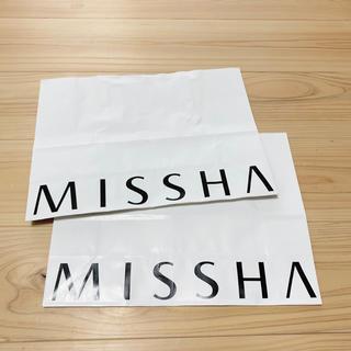 ミシャ(MISSHA)のミシャ MISSHA ショッパー2枚セット(ショップ袋)