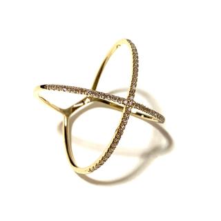 ティファニー(Tiffany & Co.)のアメリカ製大人気14Kイエローゴールドダイヤモンドリング(リング(指輪))