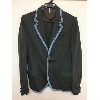 カラー(kolor)のkolor カラー メンズ ストライプ ジャケット デニム切り替え  サイズ2(テーラードジャケット)