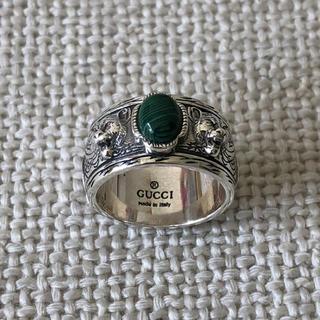 Gucci - グッチ キャットリング グリーンストーン