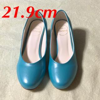 35 21.9cm 5.5cmヒール 水色 青 ブルー 靴 22cm 22センチ(ハイヒール/パンプス)