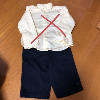 ミキハウス(mikihouse)のミキハウス 110 シャツ ハーフパンツ セット(ドレス/フォーマル)