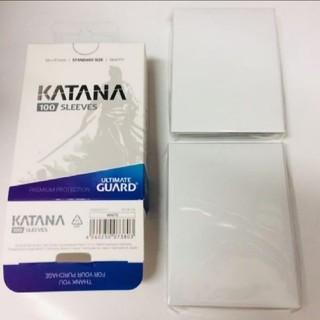 最安値 新品未使用 白 100枚 katanaスリーブ