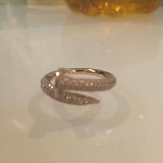 ジルコニア 釘 指輪 Cartier好きに(リング(指輪))