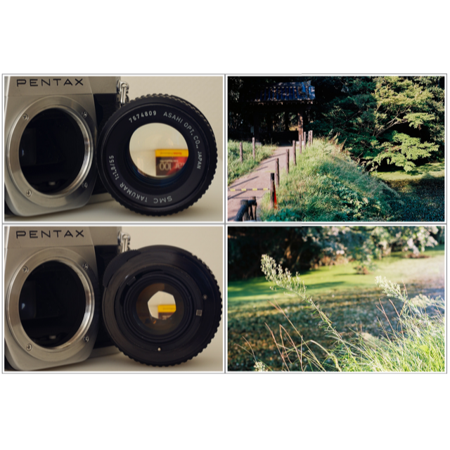PENTAX(ペンタックス)のPentax SPF + SMC Takumar 55/1.8 美品・試写済 スマホ/家電/カメラのカメラ(フィルムカメラ)の商品写真