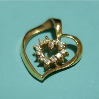 K18 ダイヤモンド付きペンダントトップ(ネックレス)