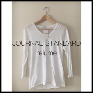 ジャーナルスタンダード(JOURNAL STANDARD)のジャーナルスタンダードレリューム USAコットンVネックTシャツ 白(Tシャツ(長袖/七分))