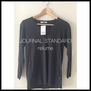 ジャーナルスタンダード(JOURNAL STANDARD)のジャーナルスタンダードレリューム USAコットンVネックTシャツ グレー(Tシャツ(長袖/七分))