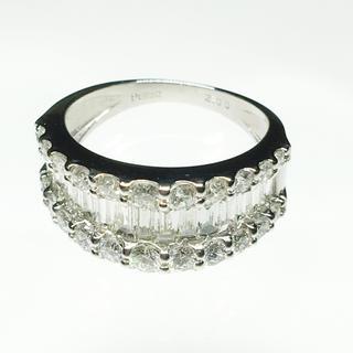 値下げ 新品❣️Pt900 ダイヤ リング 指輪 豪華 綺麗 華やか 女性 贈物(リング(指輪))