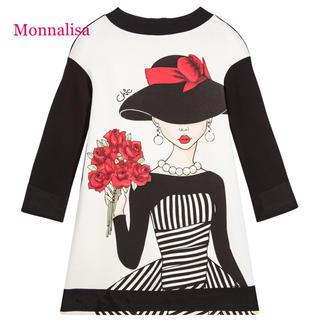 モナリザ(MONNALISA)のMonnalisa ガールズファッションワンピース 104(ワンピース)