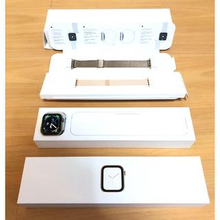 アップルウォッチ(Apple Watch)のApple Watch series 4 ゴールドステンレススチール 中古(腕時計(デジタル))