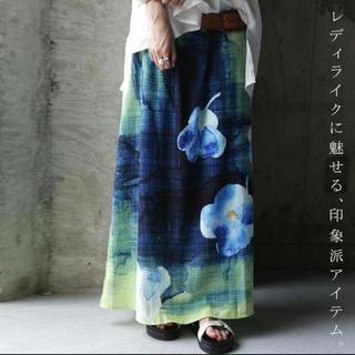 アンティカ(antiqua)のアンティカ    花柄  ロングスカート(ロングスカート)