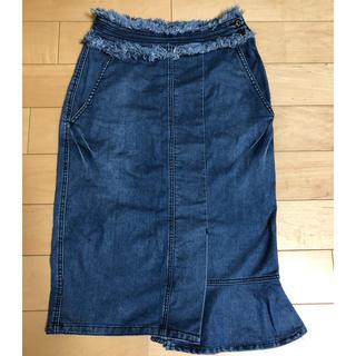 バーニーズニューヨーク(BARNEYS NEW YORK)のアドニシス☆デニムスカート(ひざ丈スカート)