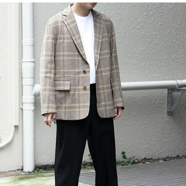 COMOLI(コモリ)の新品未使用 AURALEE JACKET BEIGEGLENCHECK メンズのジャケット/アウター(テーラードジャケット)の商品写真