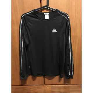 アディダス(adidas)のadidas ブラック長袖ドライシャツ(Tシャツ/カットソー(七分/長袖))