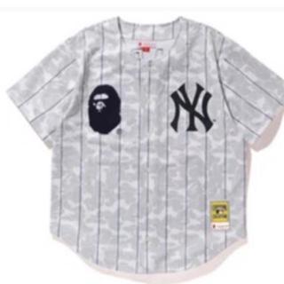 アベイシングエイプ(A BATHING APE)のBAPE Mitchell &Ness NEW YORK YANKEES 2XL(Tシャツ/カットソー(半袖/袖なし))