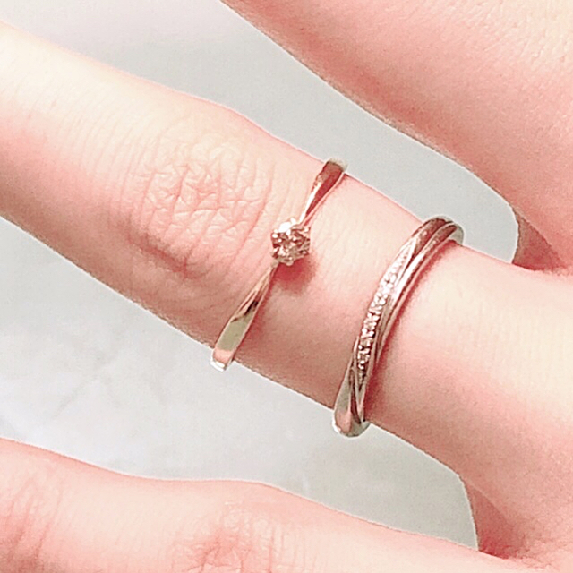 ❣️K10 ライトブラウン 天然ダイヤモンド リング 7号❣️ レディースのアクセサリー(リング(指輪))の商品写真