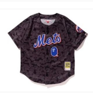 アベイシングエイプ(A BATHING APE)のBAPE Mitchell&Ness  Mets 2XL XL(Tシャツ/カットソー(半袖/袖なし))