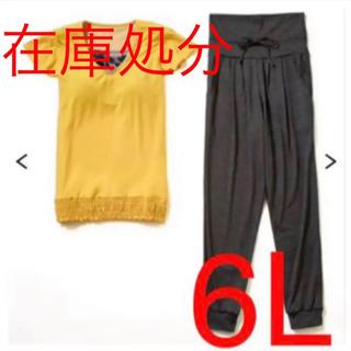 6L 新品未使用  水陸両用カップ付Tシャツ&ボトム2点セット(水着)