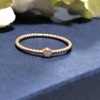 ★シエナ ロゼ K10 ダイヤモンド リング(リング(指輪))