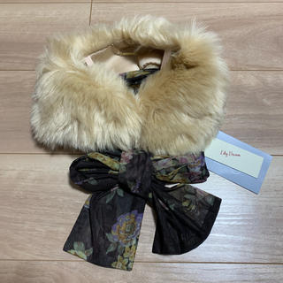 リリーブラウン(Lily Brown)のリリーブラウン エコファーティペットスカーフ付き 新品(マフラー/ショール)