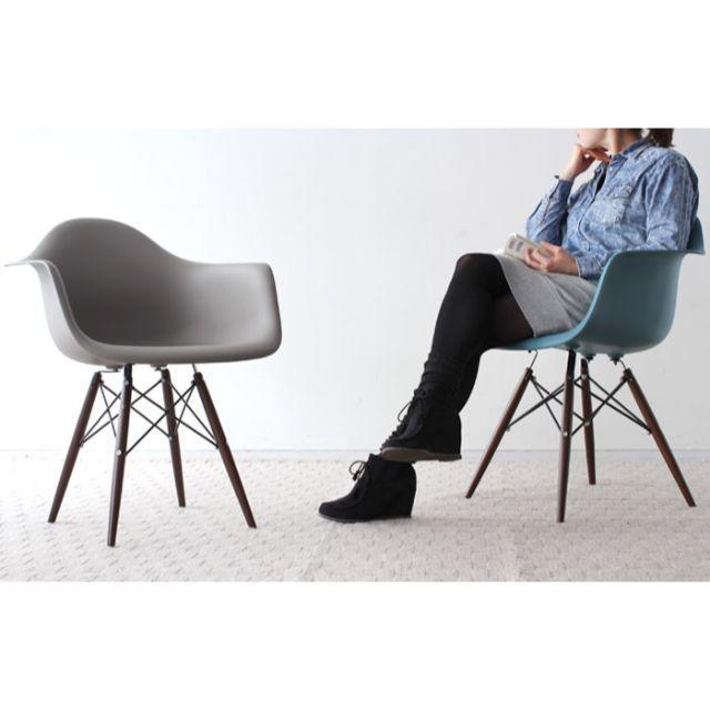 EAMES(イームズ)のチェア イームズ シェルチェア インテリア/住まい/日用品の椅子/チェア(ダイニングチェア)の商品写真