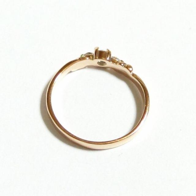 3号 ピンキー スワロフスキー ハート ライトサファイア ピンクゴールドリング レディースのアクセサリー(リング(指輪))の商品写真
