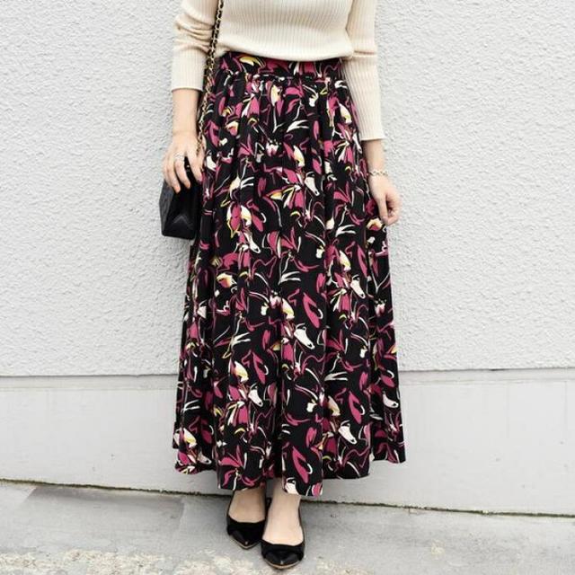 SHIPS(シップス)のSHIPS 柄ロングスカート レディースのスカート(ロングスカート)の商品写真