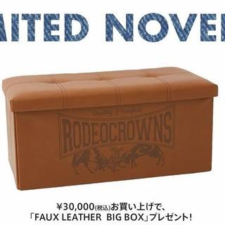 ロデオクラウンズワイドボウル(RODEO CROWNS WIDE BOWL)のRCWBららぽーと沼津店オープン記念30000円購入ノベルティ(リビング収納)