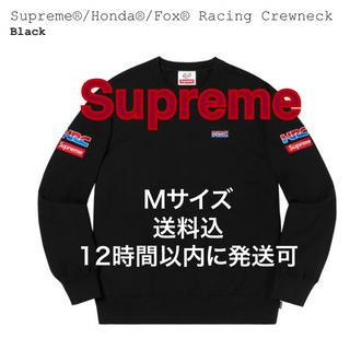 シュプリーム(Supreme)のSupreme x Honda x Fox Racing Crewneck 黒(スウェット)