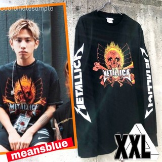 ワンオクロック(ONE OK ROCK)のXXL/長袖T METALLICA  反逆者 ロックTシャツ(Tシャツ/カットソー(七分/長袖))