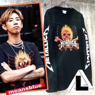 ワンオクロック(ONE OK ROCK)のL◇長袖T METALLICA  反逆者 ロックTシャツ(Tシャツ/カットソー(七分/長袖))