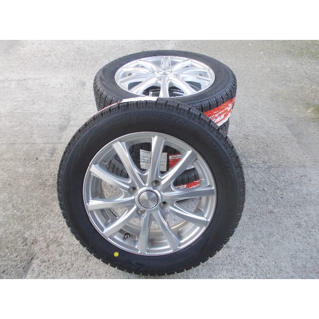 冬タイヤセット N-BOX N-WGN アルト ミライース 155/65R14 自動車/バイクの自動車(タイヤ・ホイールセット)の商品写真