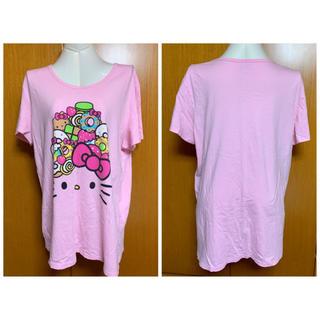 サンリオ(サンリオ)のハローキティCAFE ビッグTシャツ(Tシャツ(半袖/袖なし))