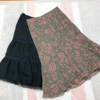 ニジュウサンク(23区)の美品♡膝下スカート 23区&Sage 2着セット(ロングスカート)