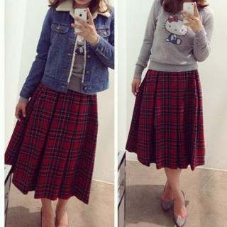 ニーナミュウ(Nina mew)のninamew♡ウールタックスカート♡(ひざ丈スカート)