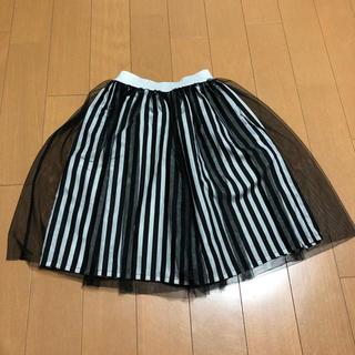 GU - HELLOWEENに。GU GIRLS ボーダーチュールスカート130