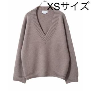 コモリ(COMOLI)のyoke 5GMILANO RIB V-NECK KNIT ニット beige (ニット/セーター)