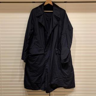 コモリ(COMOLI)のteatora device coat テアトラ デバイスコート navy 46(ステンカラーコート)