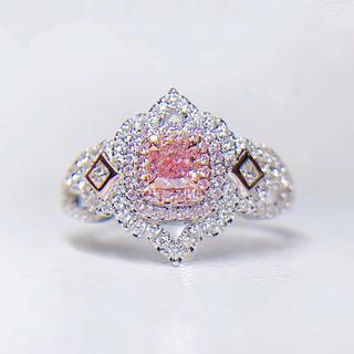 Gia♡0.25カラットピンクダイヤモンド豪華指輪(リング(指輪))