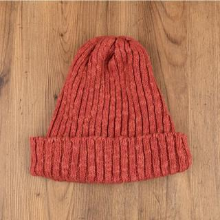シップス(SHIPS)の美品 HIGHLAND 2000 イギリス製 リネンコットン ニット帽(ニット帽/ビーニー)